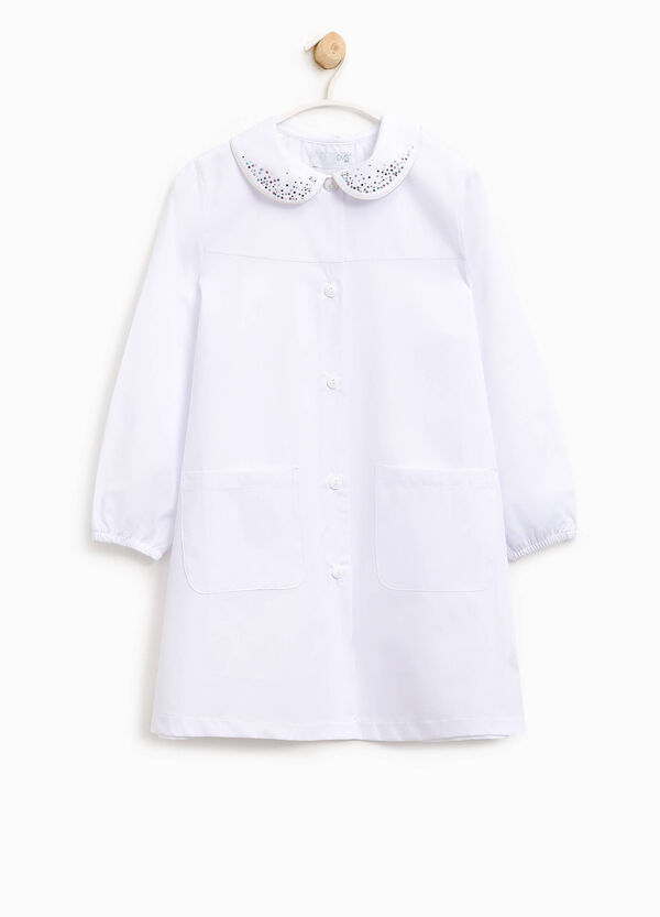Cotton smock with diamantés | OVS