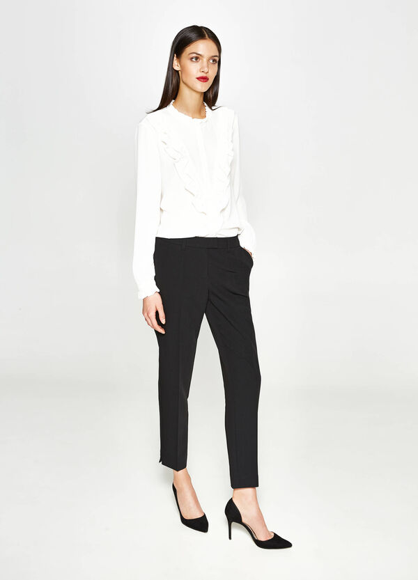 Stretch trousers with crease | OVS