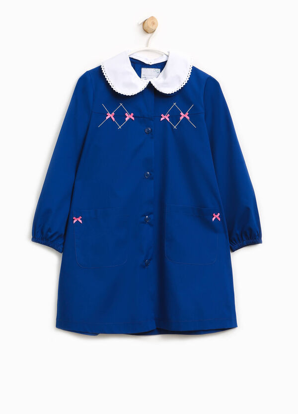 Cotton smock with embroidery and bows | OVS