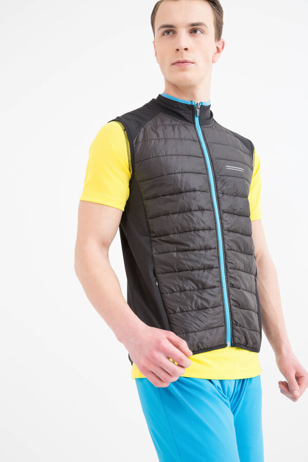 Stretch sports waistcoat with quilting | OVS