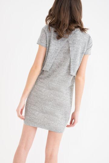 Solid colour stretch short dress.