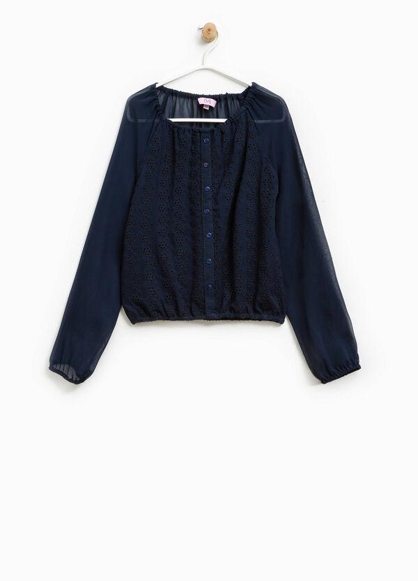 Shirt with openwork design | OVS