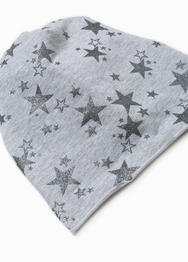 Beanie cap with glitter star pattern | OVS