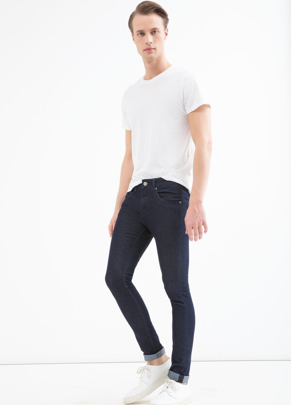 Super skinny-fit jeans with turn-ups | OVS