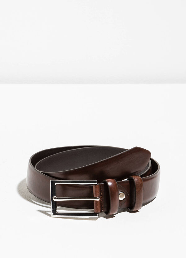 Smooth belt with rectangular buckle | OVS