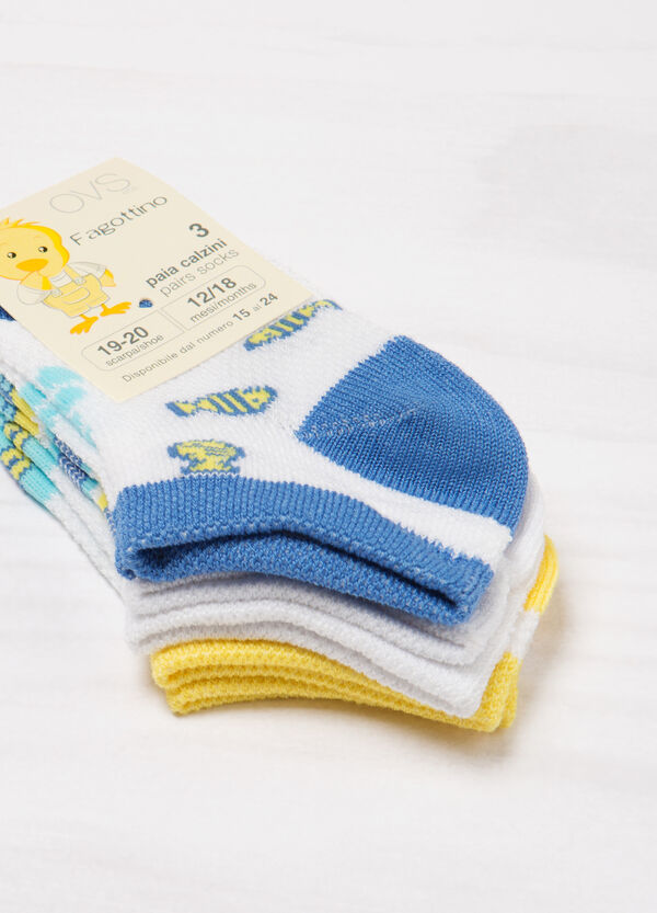 Three-pack short cotton socks   OVS