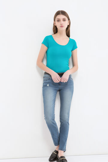 T-shirt cotone stretch