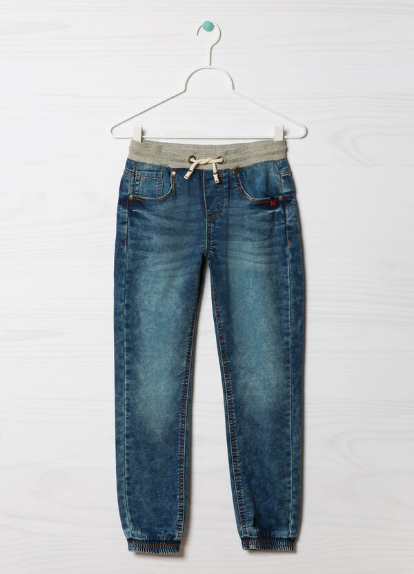 Jeans stretch con coulisse   OVS