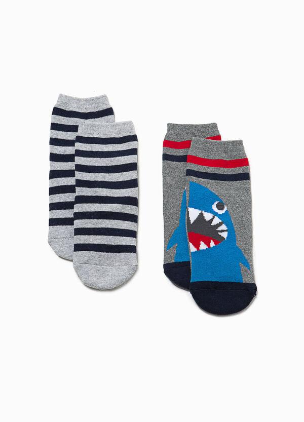 Set due paia di calze ricami e righe | OVS