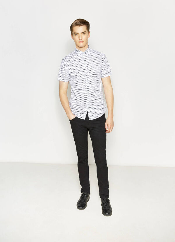 Printed regular-fit casual shirt | OVS
