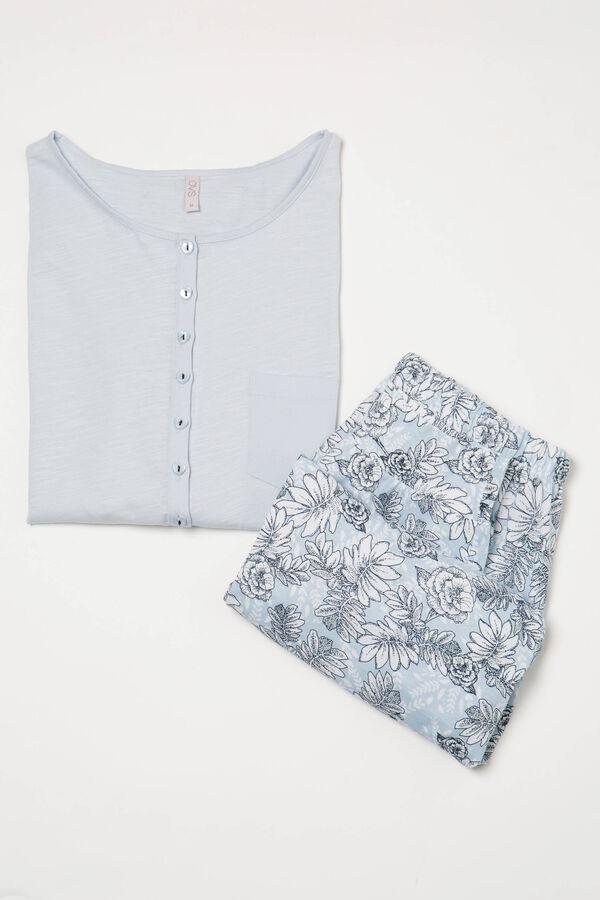 Cotton pyjamas with pocket and pattern | OVS
