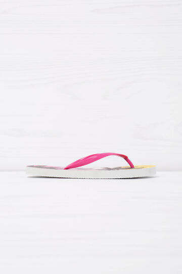 Thong sandals with palm tree print