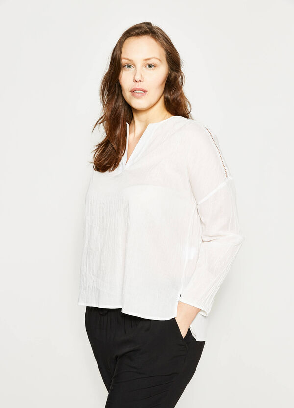Curvy openwork blouse | OVS