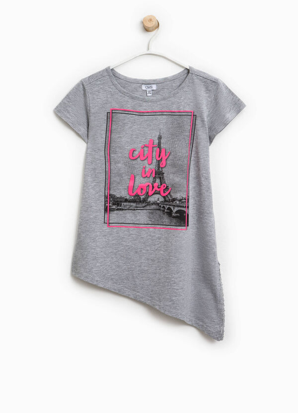 T-shirt con fondo asimmetrico | OVS
