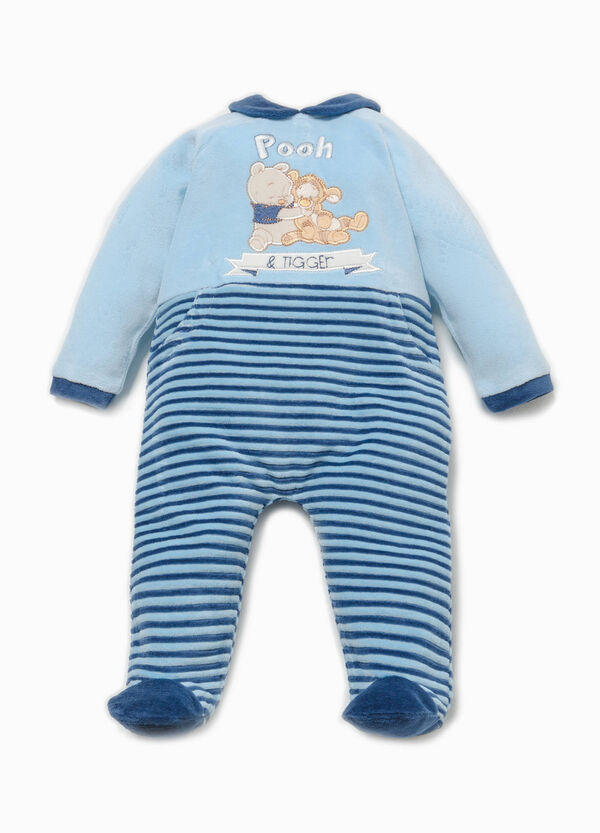 Striped onesie with Winnie the Pooh patch | OVS