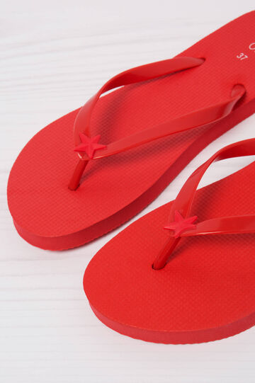 Solid colour thong sandals