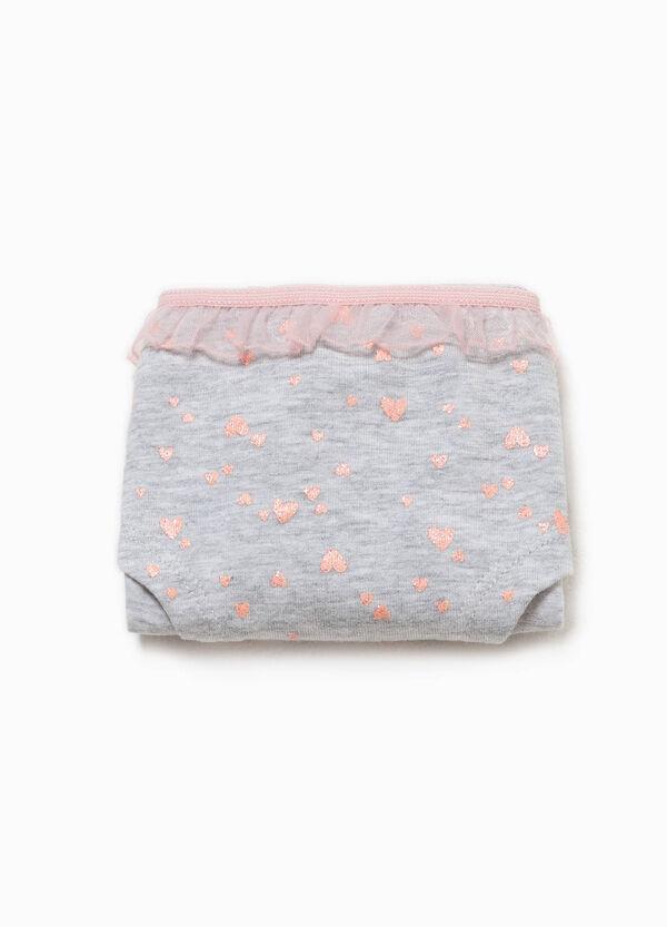 Culotte in cotone organico a cuori | OVS