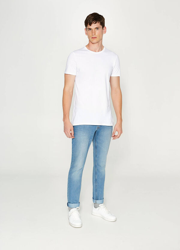 Slim fit, washed-effect jeans | OVS