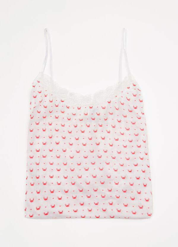 Printed viscose pyjama top | OVS