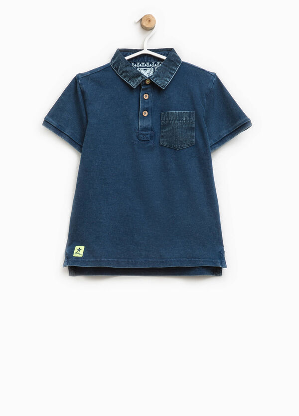 100% cotton polo shirt with pocket | OVS