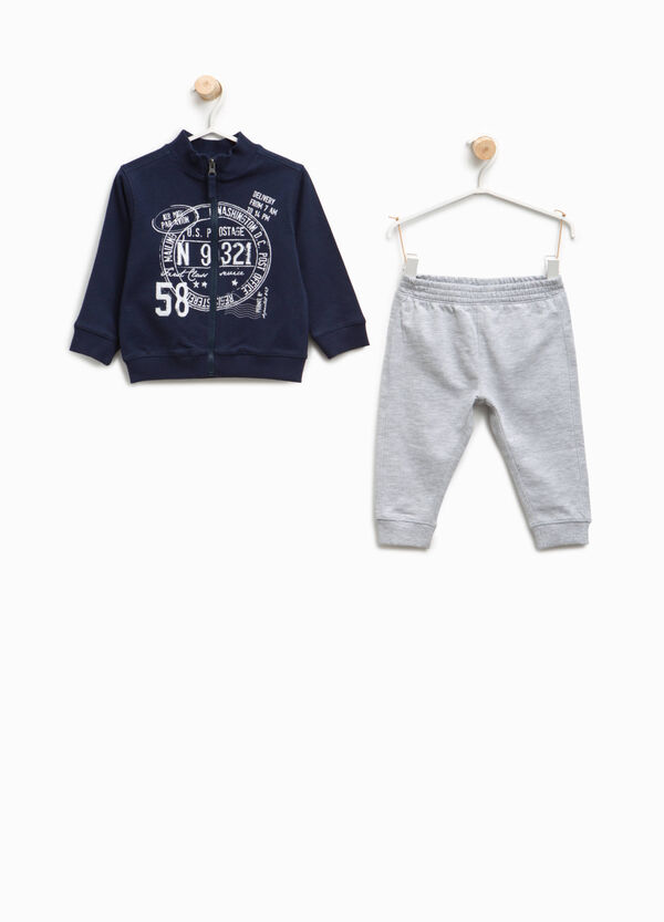 Tracksuit in 100% cotton with print | OVS