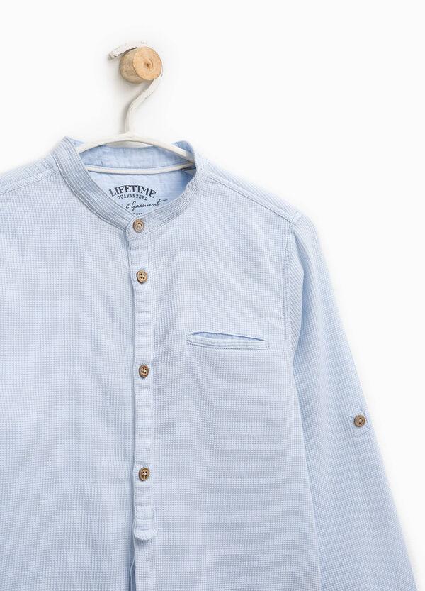 Camicia in puro cotone a micro quadri | OVS