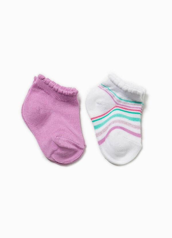 Set due paia di calze unito e righe | OVS