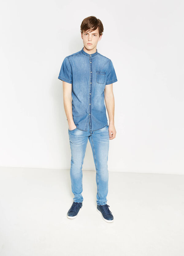 Slim fit, short sleeved casual shirt | OVS