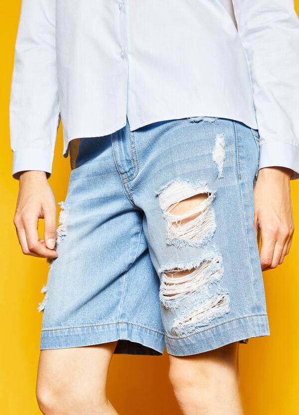 Bermuda di jeans con strappi | OVS