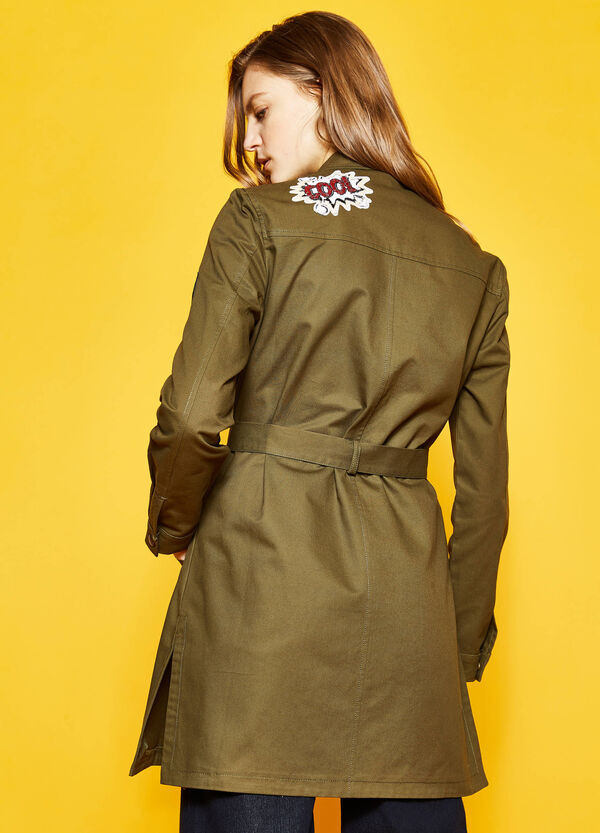 Long jacket with belt | OVS