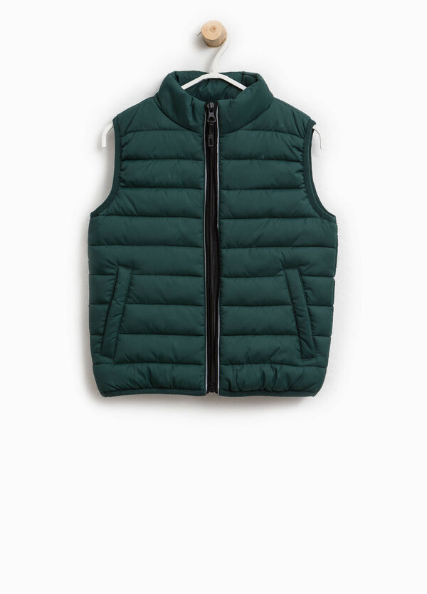 Solid colour padded waistcoat   OVS
