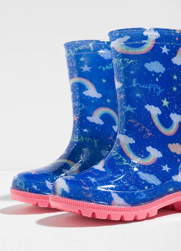 Rainbow patterned rain boots | OVS