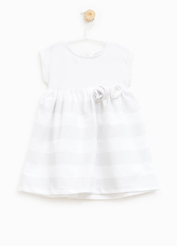 Dress with flowers and pleated skirt | OVS