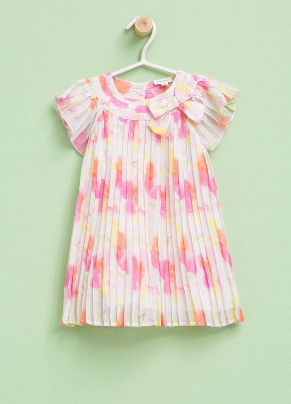 Patterned pleated dress | OVS