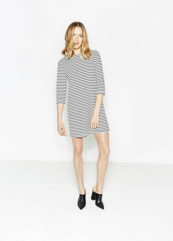 Stretch dress with striped pattern | OVS