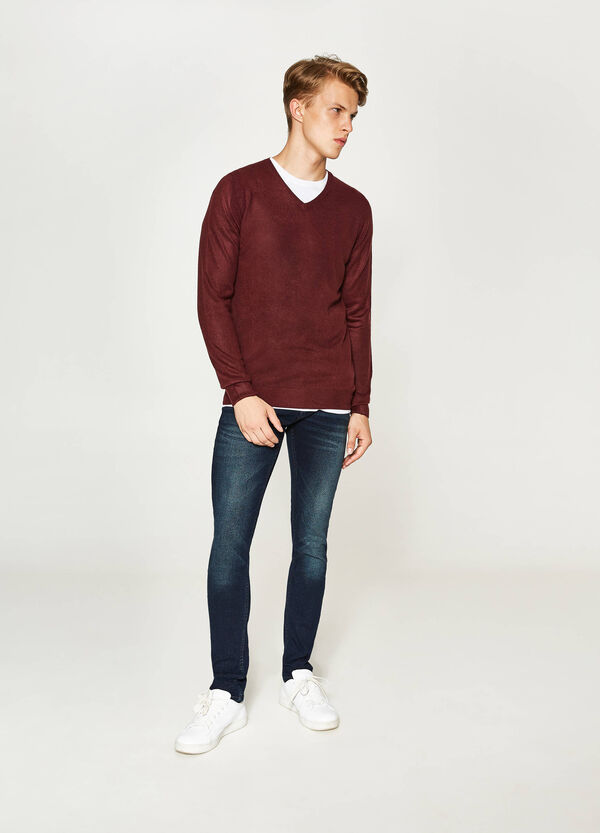 Solid colour pullover with V-neck | OVS