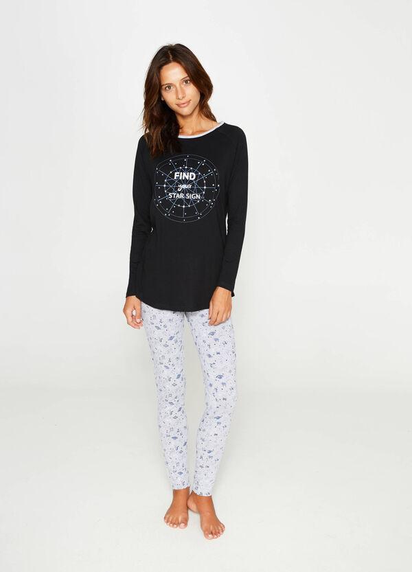 Cotton pyjamas with glitter print | OVS