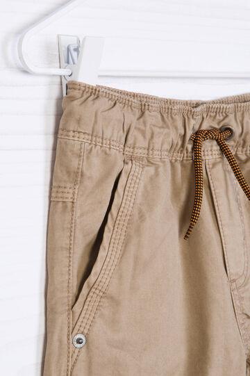 Shorts cotone con orlo a contrasto