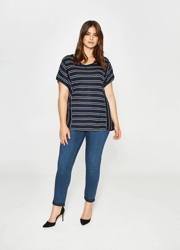 Curvy stretch jeans with fading | OVS