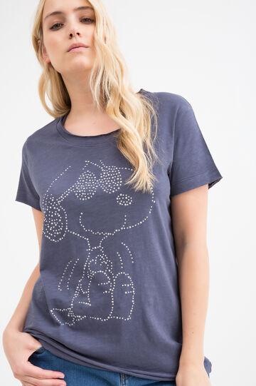 T-shirt misto cotone Snoopy Curvy
