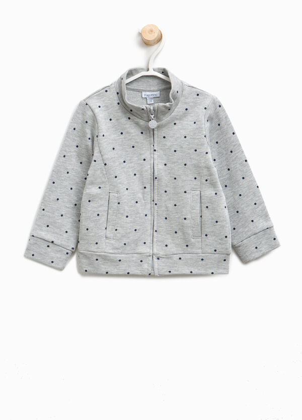 100% cotton sweatshirt with polka dots | OVS