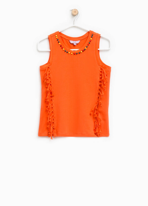 Top with fringes and beads | OVS