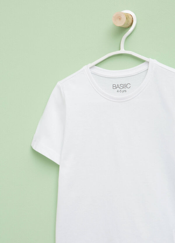 Cotton T-shirt with crew neck   OVS