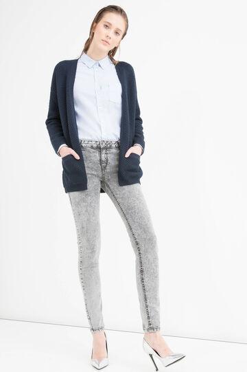 Cardigan tricot misto cotone