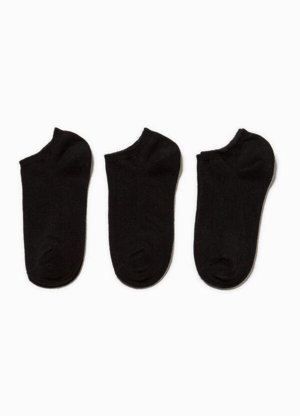 Set tre paia di calze corte in cotone | OVS