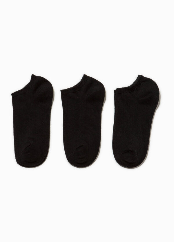 Three-pack short cotton socks | OVS