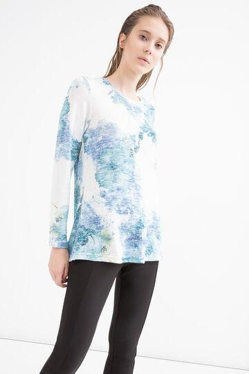 Viscose blend floral T-shirt