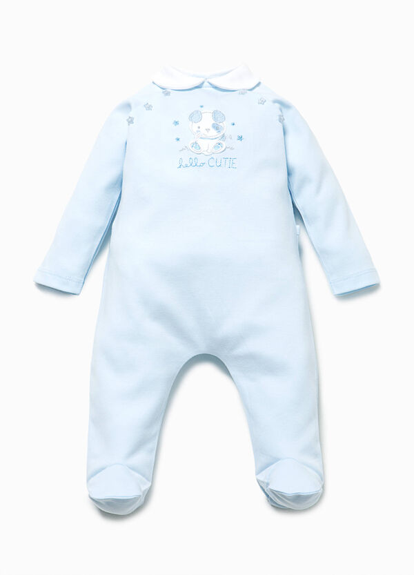 Onesie in 100% cotton with patches | OVS