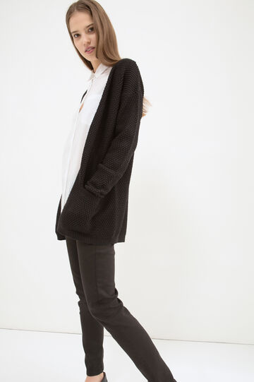 Cotton long cardigan with pockets