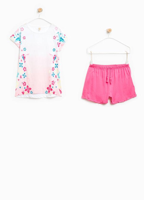 100% Biocotton pyjamas with maxi print   OVS